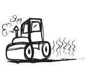 Doodle steamroller — Stock Photo