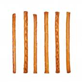 Salty cracker pretzel sticks isolated on white background — Stock Photo
