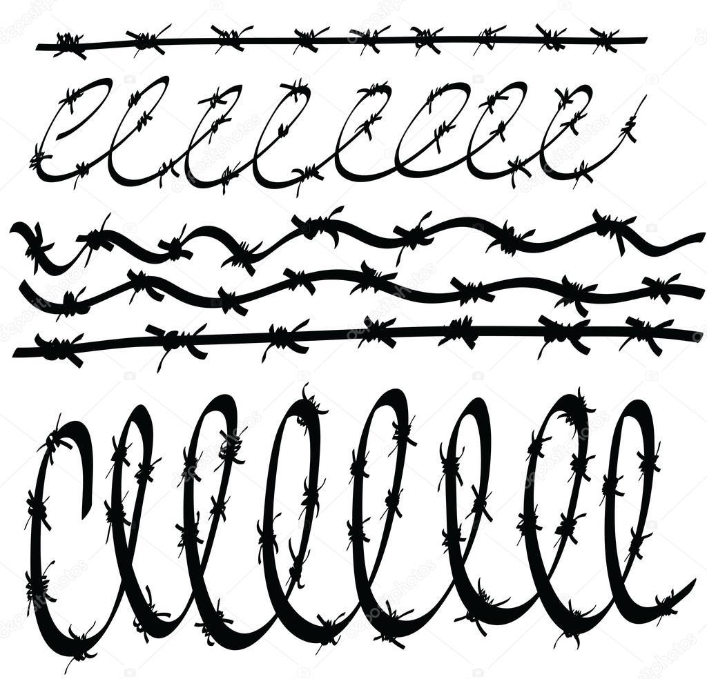 Dibujos animados fijar el alambre de púas — foto stock