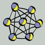 Cartoon lattice atomic physics — Stock Photo #69469777