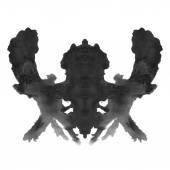 Rorschach inkblot test isolated on white background — Stock Photo