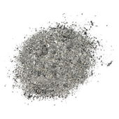 Ash isolated on white background, texture — Stock Photo
