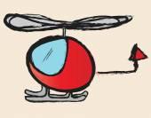 Вертолет болвана — Стоковое фото