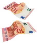New ten euro banknote, isolated on white — Stock Photo