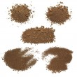 Set pile dirt isolated on white background with clipping path, (high resolution) — Stock Photo #71747621