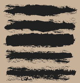 Hand painted brush strokes ink isolated — Stock Photo