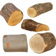 Set log fire wood isolated on white background with clipping path (high resolution) — Stock Photo #75213115