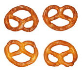 Cookies pretzels  isolated on white background — Stock Photo