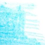 Photo grunge blue wax pastel crayon spot isolated on white background — Stock Photo #77037691