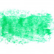 Photo grunge green wax pastel crayon spot isolated on white background — Stock Photo #78352488