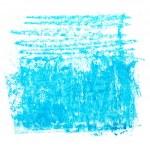 Photo grunge blue wax pastel crayon spot isolated on white background — Stock Photo #78354728