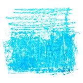 Photo grunge blue wax pastel crayon spot isolated on white background — Stock Photo