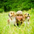 Woman with beagle — Stock Photo #54592005