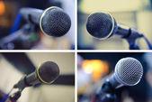Set of microphones — Stock Photo