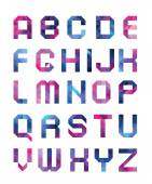 Colorful font from triangles — Stock Vector
