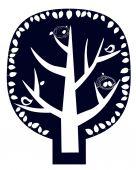 Magic tree sticker — Stock Vector