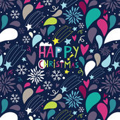 Night before Christmas a seamless pattern — Stock Vector