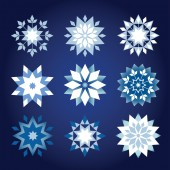 Prickly Christmas snowflakes — Stock Vector