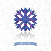 Prickly snowflake from triangles — Stock Vector
