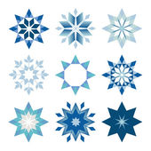 Prickly snowflakes — Stock Vector