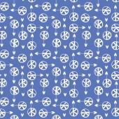 Sea hearts a seamless pattern — Stock Vector