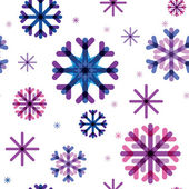 Seamless pattern from color beautiful snowflakes — Stock Vector