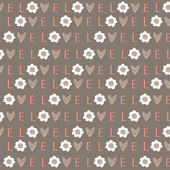Seamless pattern from letters for the Valentine day — Stock Vector