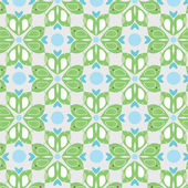 Seamless pattern with enamoured birdies — Vetor de Stock