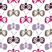 The seamless pattern weeds butterflies — Stock Vector