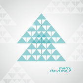 The stylized geometrical Christmas tree from arrows — Stock Vector