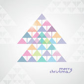 The stylized geometrical Christmas tree from color arrows — Stock Vector