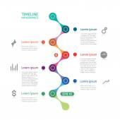 Timeline infographics broken line — Stock Vector