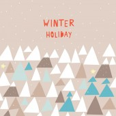 Winter holiday — Stock Vector