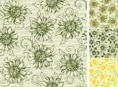 Vintage floral backgrounds — Stock Vector