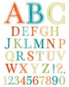 Handwritten vintage alphabet — Vetorial Stock