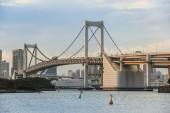 Rainbow bridge at Odaiba — Stock Photo