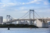 Rainbow bridge at Odaiba — Stock Photo
