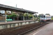 Local old country train station — Stock Photo