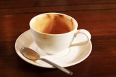 Empty used coffee cup — Stock Photo