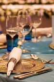 Table set for event party — Stock Photo