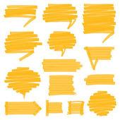 Highlighter Shaded Speech Bubbles Design Elements — Stock Vector