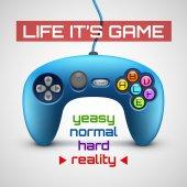 Game pad concept. — 图库矢量图片