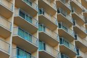 Outside balconies of a hotel or apartment complex — Stock Photo
