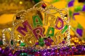 Mardi Gras crown decoration — Stock Photo