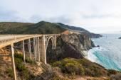 The Historic Bixby Bridge.  Pacific Coast Highway California — Stock Photo