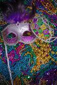 Mardi Gras Mask on dark Background — Stockfoto