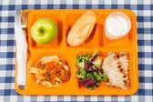 Tray of food — Stock Photo