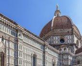 Duomo Santa Maria Del Fiore and Campanile. Dome of Santa Maria cathedral — Foto de Stock