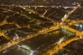 Vista notturna di parigi — Foto Stock
