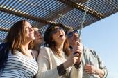 Young people making a selfie — Stock Photo